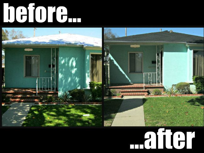 metal roof before and after