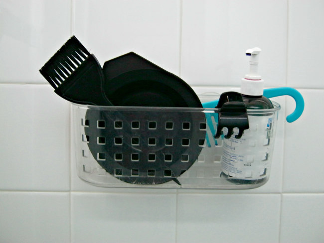 hair supplies basket