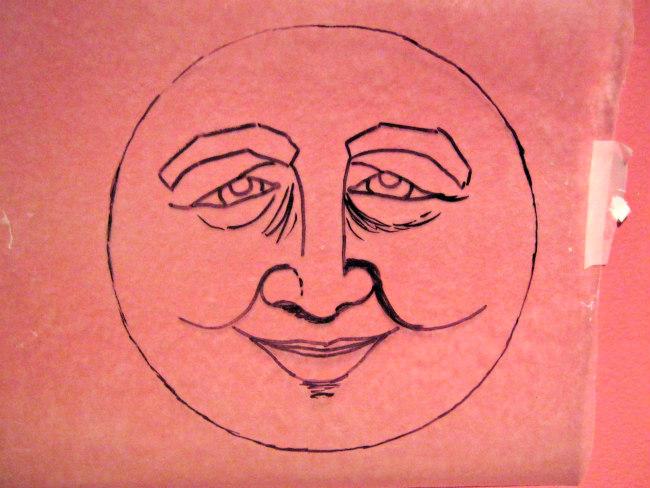 sun face sketch
