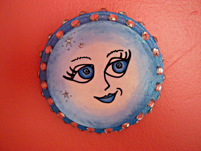 blue moon painting plaque