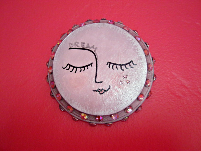full moon painting plaque