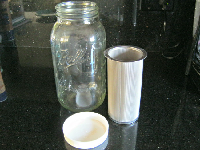 cold brew coffee filter and jar