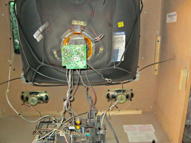 inside console tv