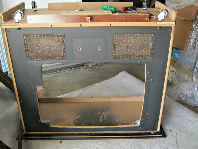 dismantling tv cabinet