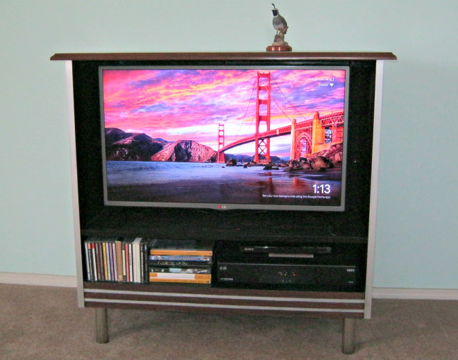 tv cabinet transformation after photo
