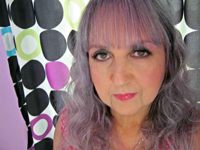silver hair dyed lavender