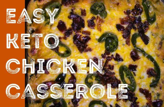 keto chicken jalapeno popper casserole